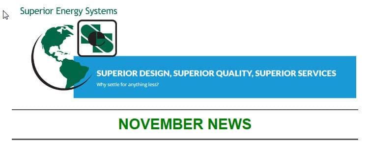 Superior Energy Systems November News