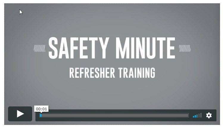 PERC Safety Minute Video: The Fundamentals of Refresher Training