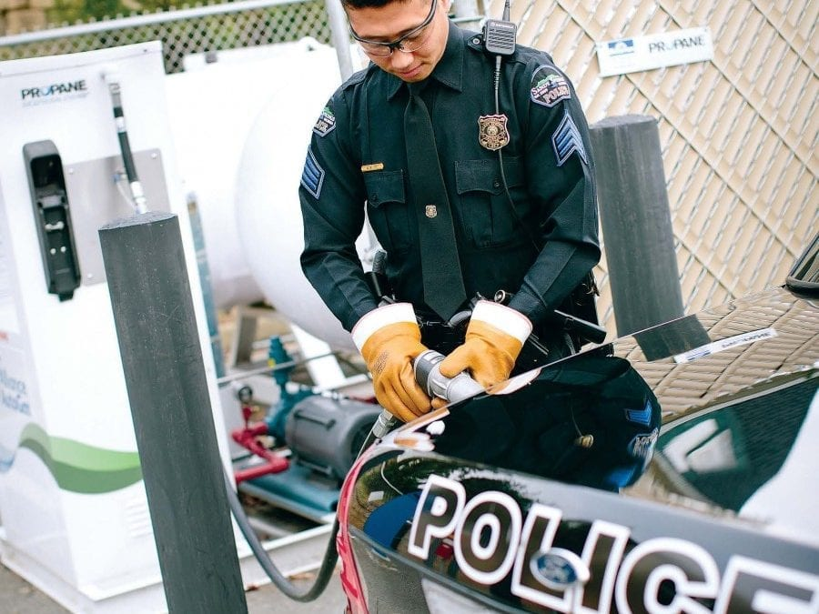 Ask the Edmonds Cop: Why city police vehicles run on propane