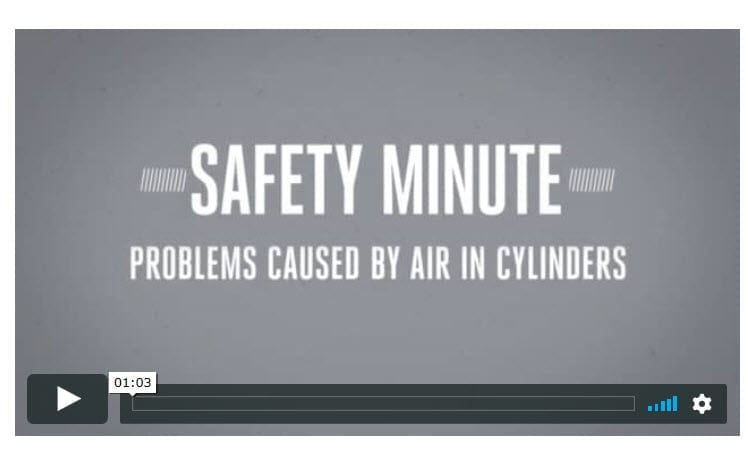 PERC Safety Minute: Problems Air Can Cause in Cylinders